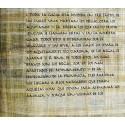 Rollo de papiro en castellano de  Bello Gallico