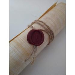Cierre para rollos de papiro